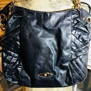 ELLIOTT LUCCA black leather handbag.  EUC